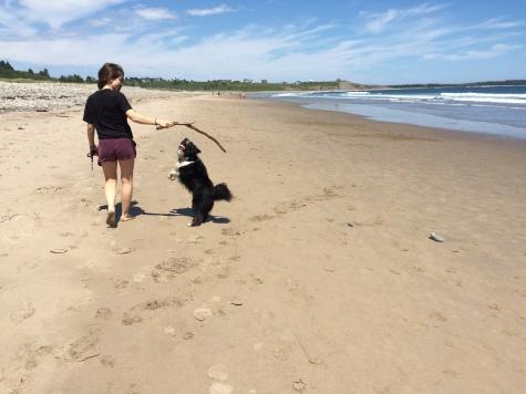 Faye and Kipper at Hirtle's Beach, Kingsburg