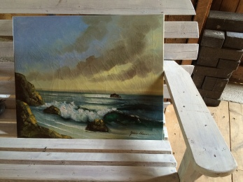 Gave in to the marine theme in this old oil painting